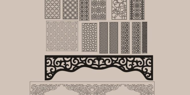Cnc cut files dxf patterns pack