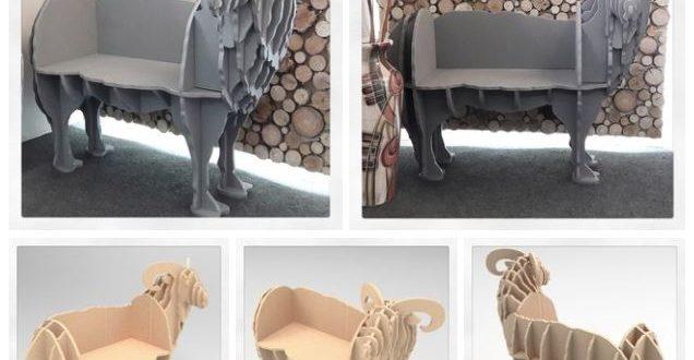 Furniture Bench Sheep 16mm Cnc File Vectors