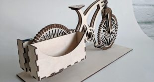 Bike Card Holder Office Laser Cut Template Download