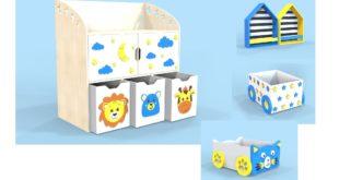 Free cnc cdr template furniture Child Storage kids