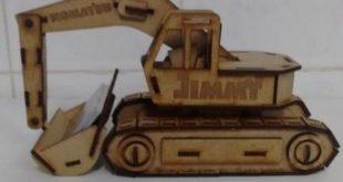 Free cnc file Excavator toy car vehicle machine