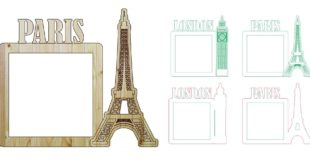 Free london paris photo frame laser cut and engraving