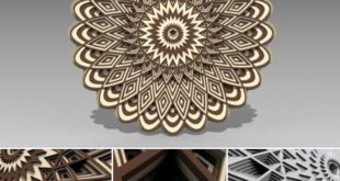 Free MultiLayer 3D mandala cnc cut download