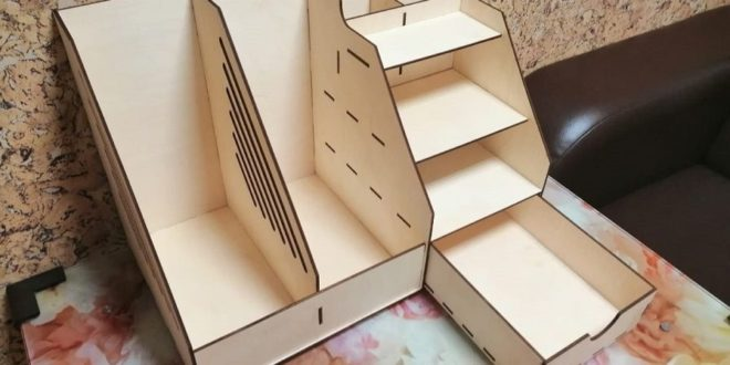Free cnc laser cut organizer office paper dxf download