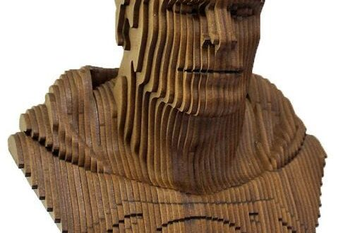 Super man bust mannequin cnc cut file