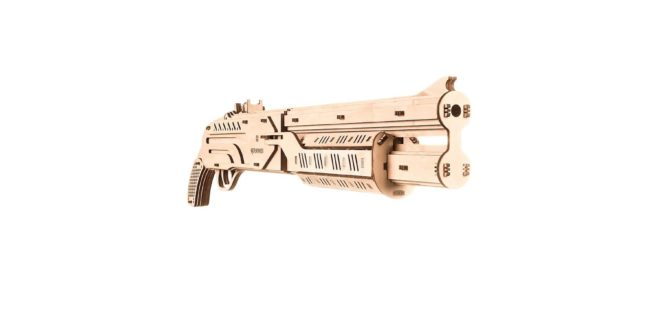 Free download laser cut Shotgun machine gun