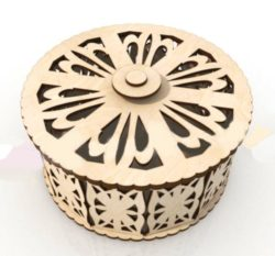 Free cnc laser cut small round box
