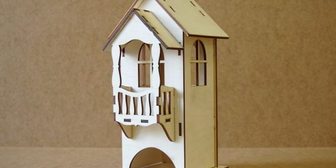 Free laser cut design Tea house with balcony