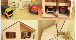 Free Laser Cut The house and garage for two cars