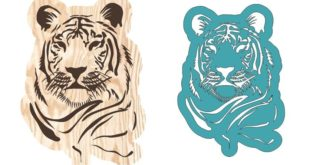 Cnc file Tiger panel download dxf