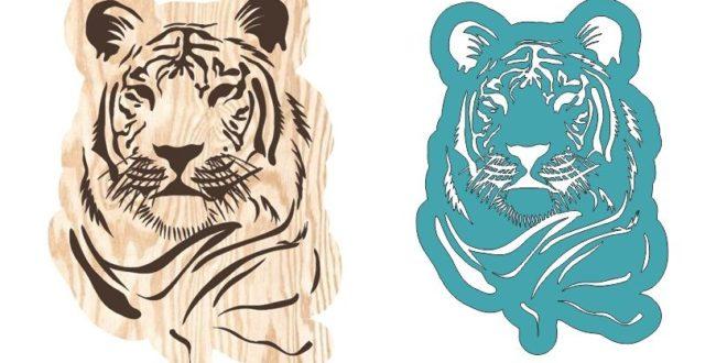 Cnc file Tiger panel download dxf