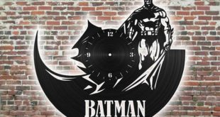 Batman wall clock laser cut vinyl disc