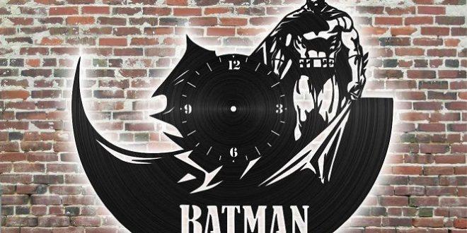 Batman wall clock laser cut vinyl disc