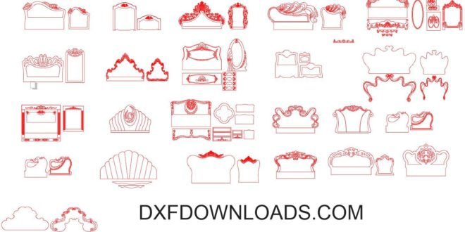 Free pack CDR File 2d vectors beds templates to cnc wood cutting