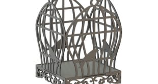 Cnc laser cut dxf file vector bird cage 001