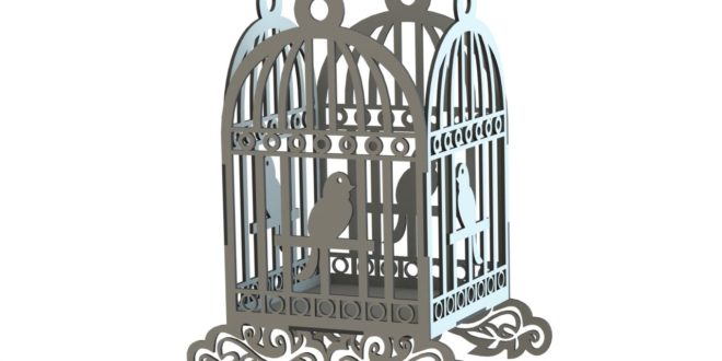 Bird Cage 004 File DXF to cut cnc machines