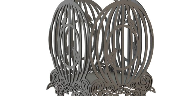 File vector dxf 005 bird cage mdf wood cut file