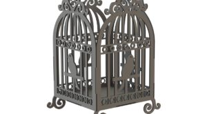 File download to cut bird cage decor suspended dxf 006