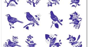 "Laser Engraving a set of ""Birds on the branches"" vectors Download"