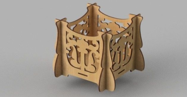 Free wood box design dxf cnc cut