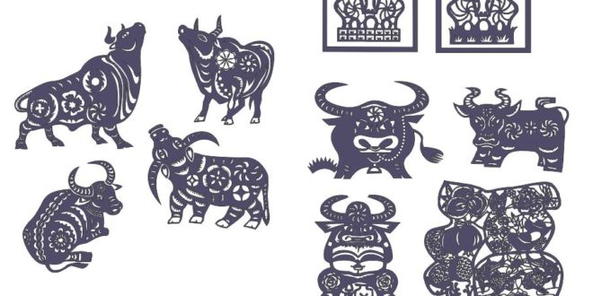 Bull stickers 2d dxf cnc files