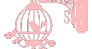 Cnc File wall cage bird decor home dxf cut