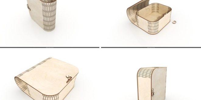 Cnc Laser Plan design casket bag box