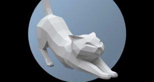 Pepakura Papercraft Cat Pdf File