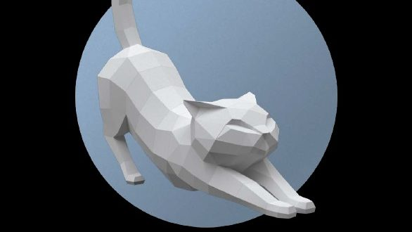 Pepakura Papercraft Cat Pdf File
