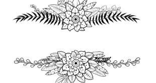 Free cdr engraving floral flower design