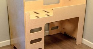 Free project woodwork children's kids bed plywood mdf