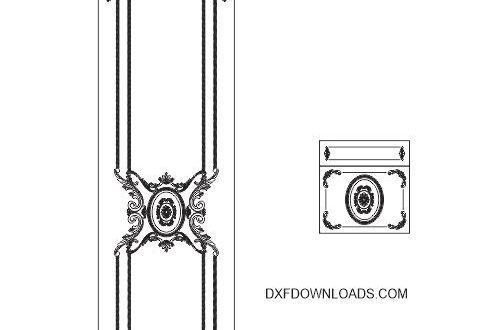 Free cnc file door wardrobe furniture dxf