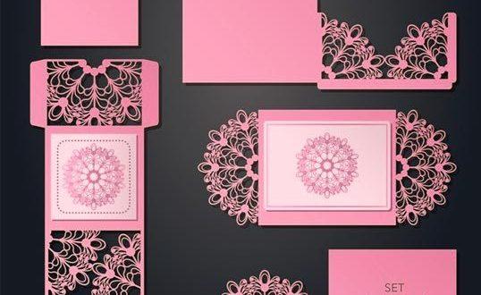 Pack Vectors Laser Cut Papercutting envelopes Postcards wedding DXF EPS Files