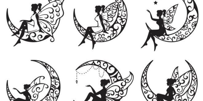 Fairy Patterns Silhouette Files Vectors Cnc Cut