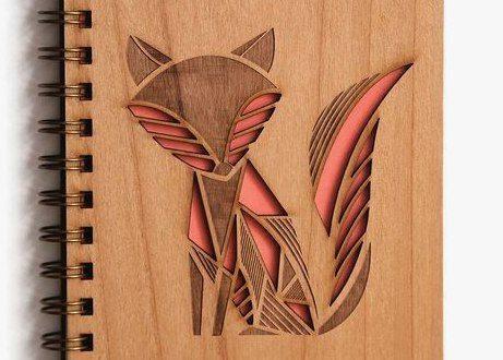 Free vector laser cut Fox cover book cut in paper
