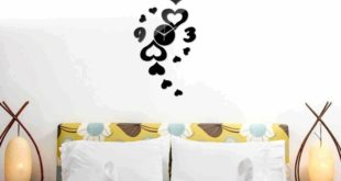 Free cnc file hearts wall clock decoration