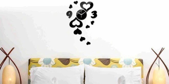 Free cnc file hearts wall clock decoration