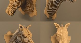 Horse Head 3D Wall Puzzle Cut Wood Decoration