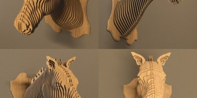 Horse Head 3D Wall Puzzle Cut Wood Decoration