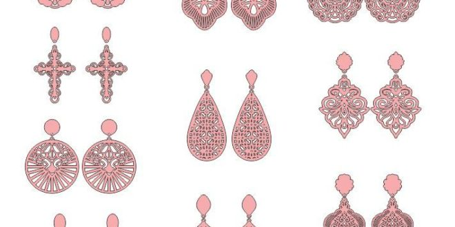 2d laser cut pack jewelry earrings and pendants