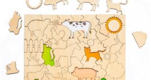 Kids toy laser cut jigsaw puzzle-farm animals