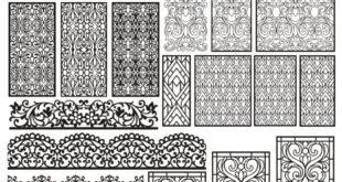 Free download Pack Laser Cut Panels Grid Set CDR DXF Vectors