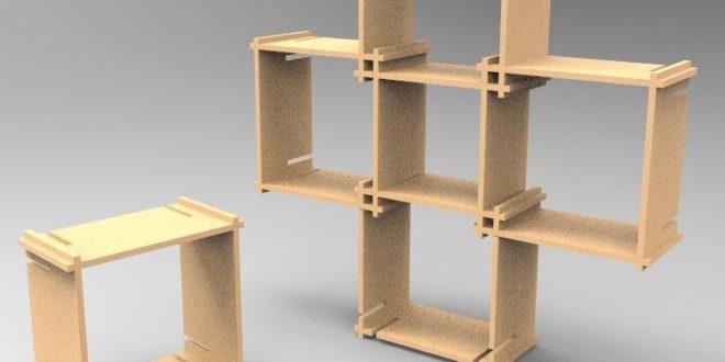 Free cnc project modular shelf