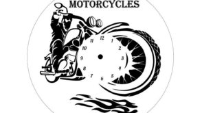 Free moto motorcycle clock vector