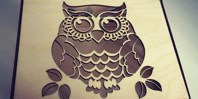 Free laser cut file 3mm wooden owl box