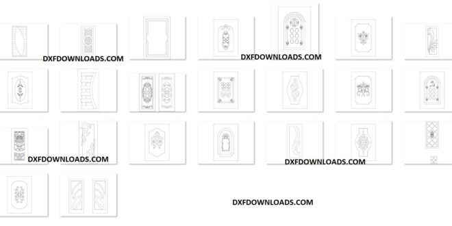 Free pack vectors door to download cnc router carve carving