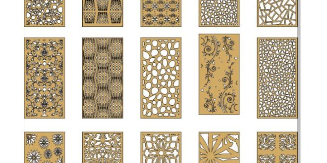 Pack set grid panels patterns cut dxf cdr files