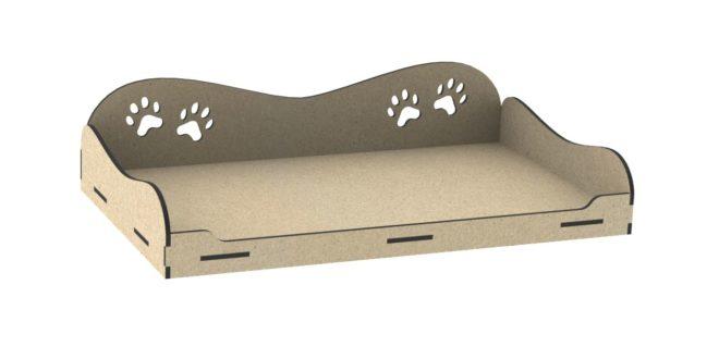 Cnc Cut Dog Pet bed 6mm mdf