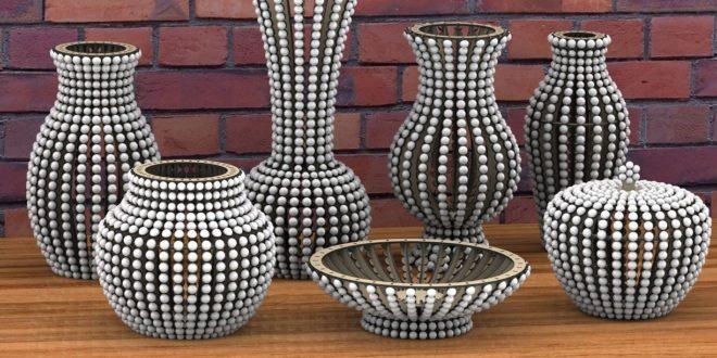 Pack set Laser Cut vases vase pot pots flower flowers design download cdr dxf files to cut