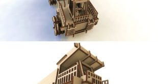 Monster Truck 3d laser cut wood toy decor